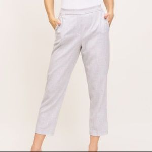 Dynamite Cindy Pull On Cigarette Ankle Pant in Alloy Mix Light Grey Size XL